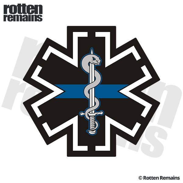 Tactical Medic Thin Blue Line Swat Police Sticker Decal