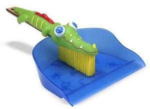 this little broom and dustpan are just the right size for kids to help with chores... and cute enough to make them fun!