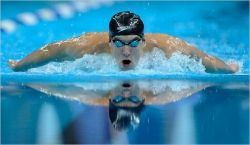Michael Phelps, a professional swimmer holds the record for most individual Olympic Gold medals at 9. Phelps is literally a fish out of water.