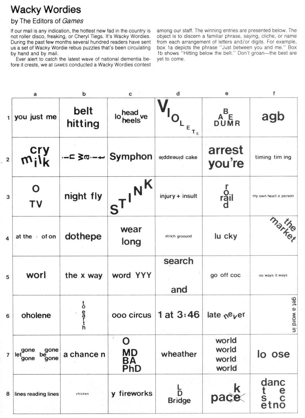 Printable Rebus Puzzles With Answers Brain Teasers Wackie