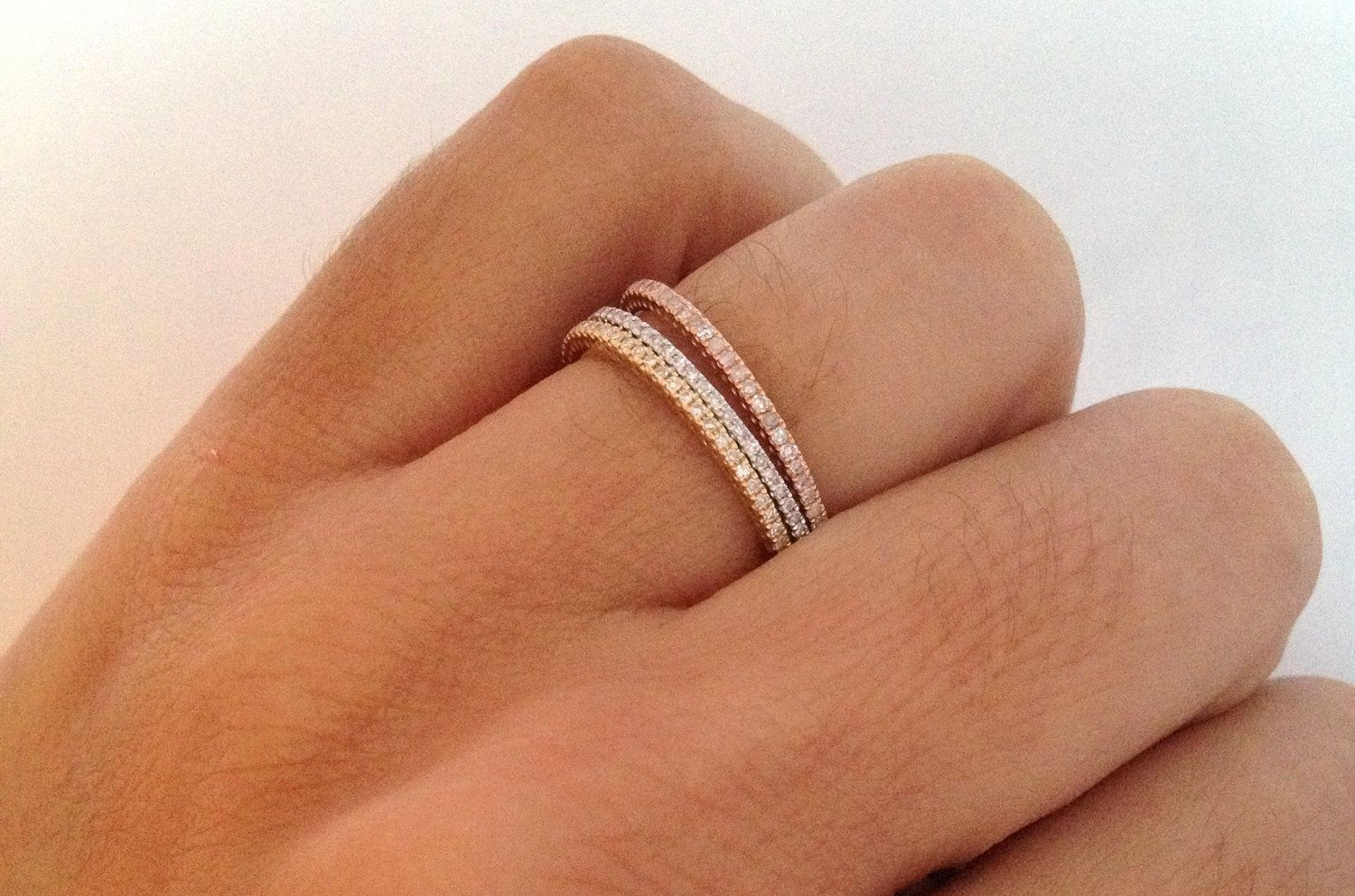 product bands ring yellow gold puregemsjewels cut wide pav princess engagement micro pave