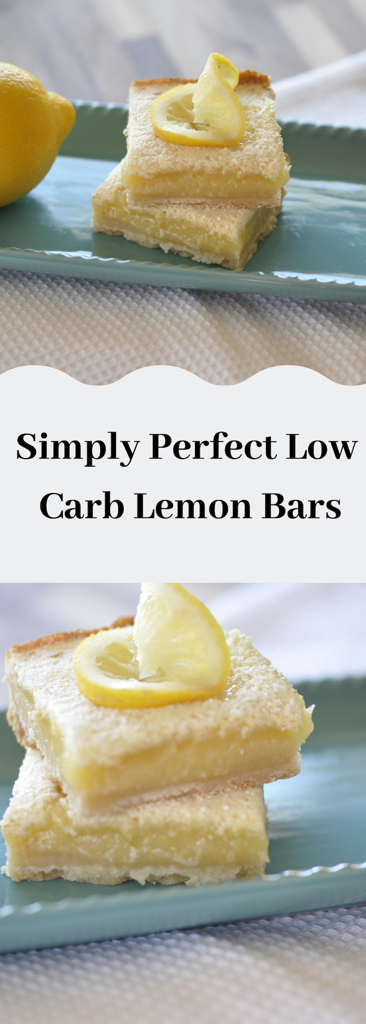 Simply Perfect Low Carb Lemon Bars #nocarbdiets