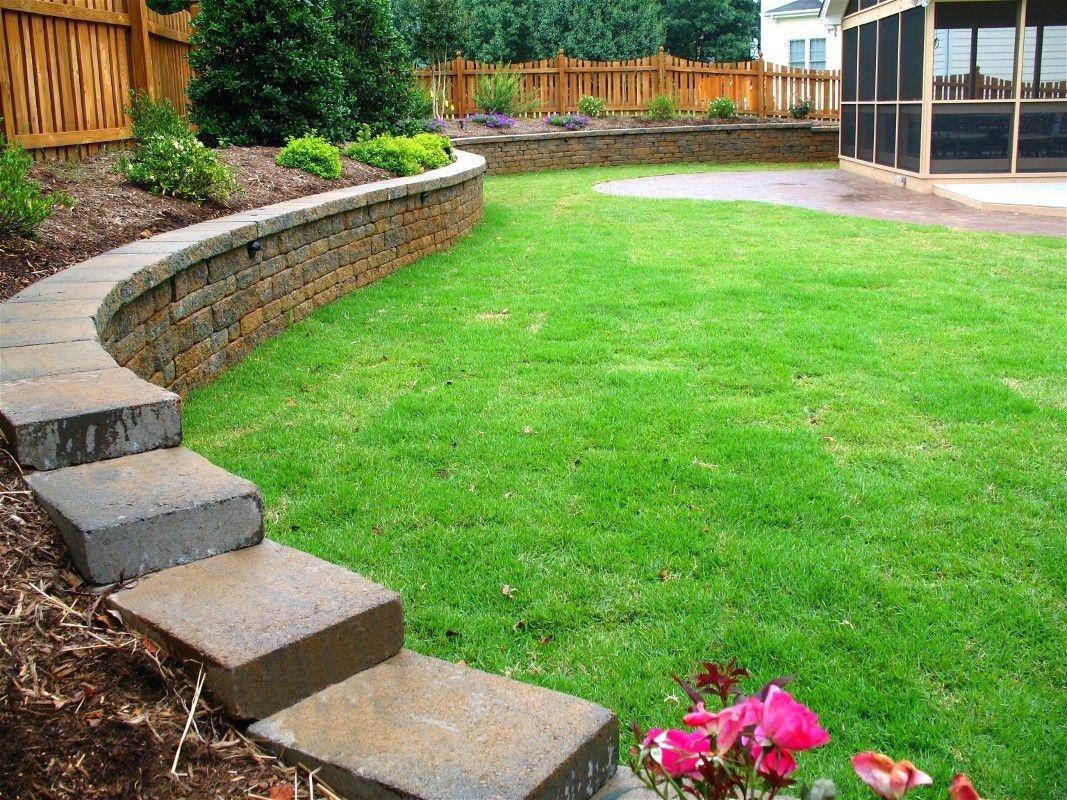 Retaining Wall Backyard Garden Design Backyard 400 x 300