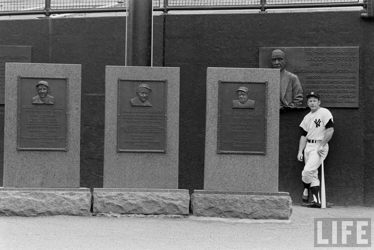 Mickey Mantle In Monument Park Baseball Movies Mickey Mantle Yankees Baby