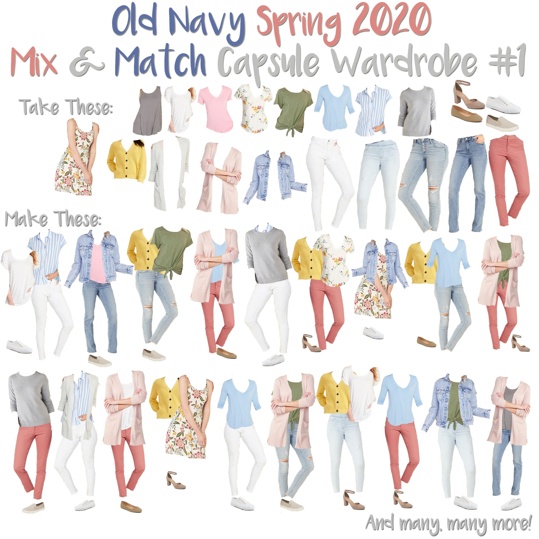 Old Navy Christmas Hours 2020 Old Navy Spring 2020 Capsule Wardrobe in 2020   Navy capsule