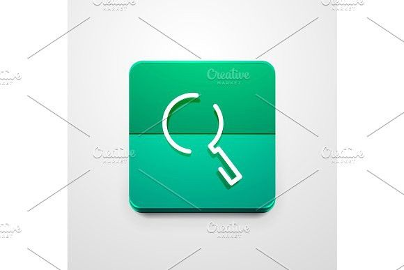 Search magnifyier web button, magnify icon. Modern