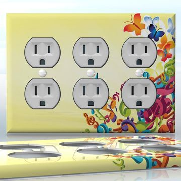 Diy do it yourself home decor easy to apply wall plate wraps diy do it yourself home decor easy to apply wall plate wraps butterfly song solutioingenieria Images