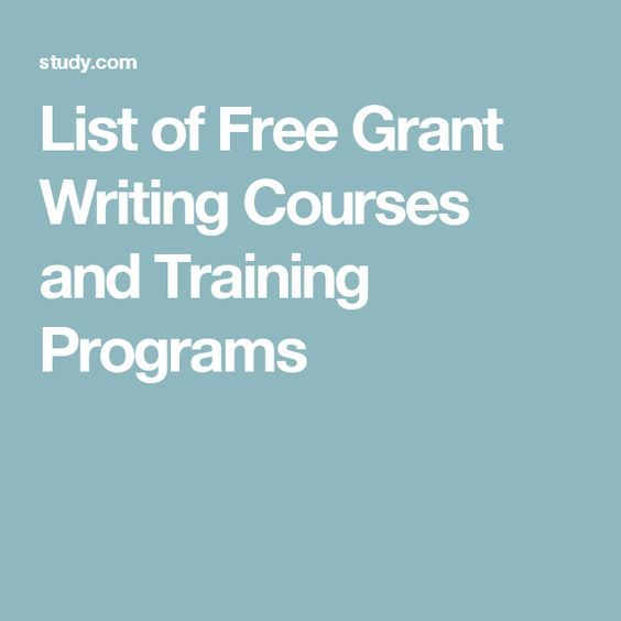 List Of Free Grant Writing Courses And Training Programs