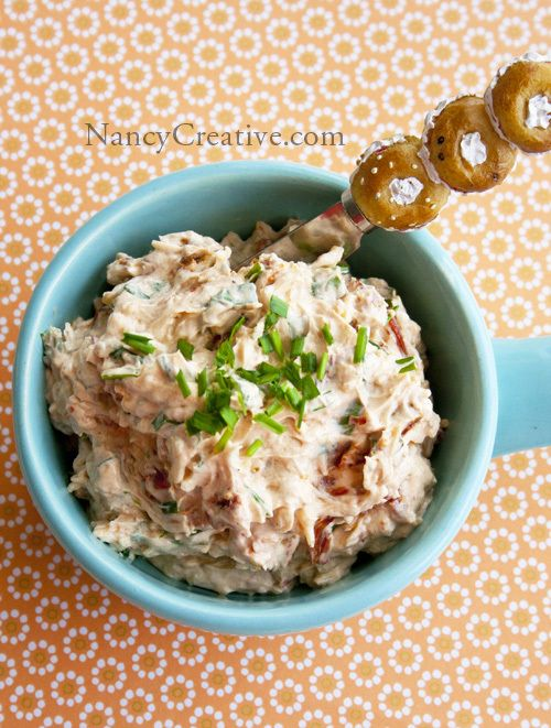 Sundried tomato dip - I loved this. Would be great to keep in fridge for bagels, too.
