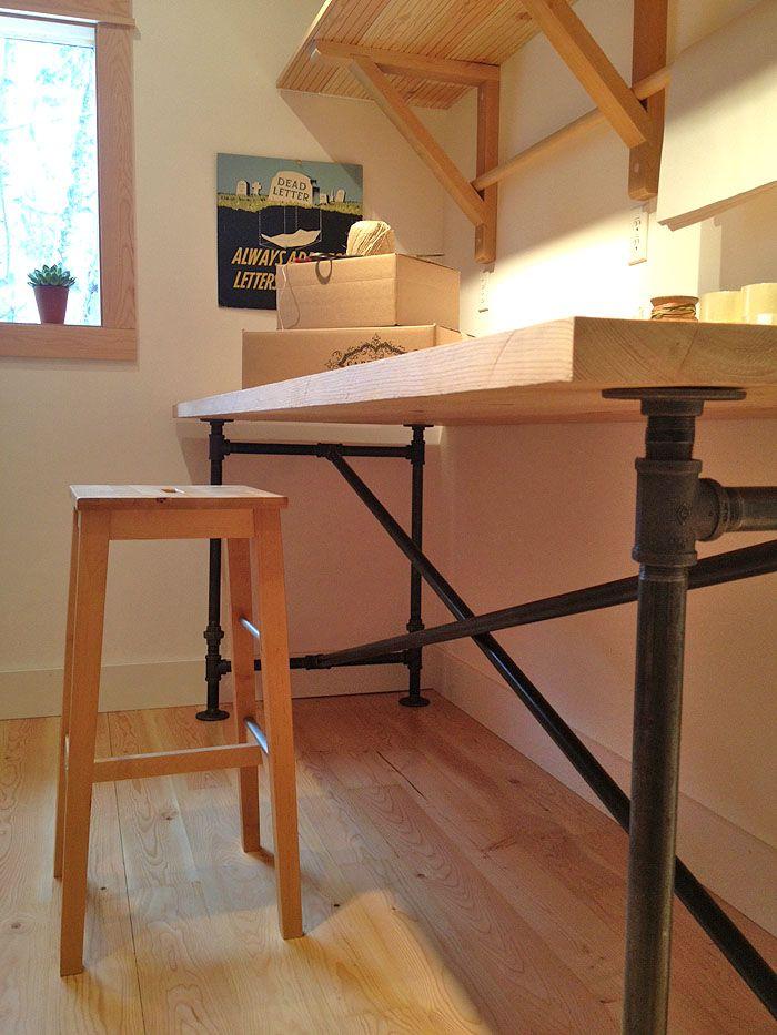 Mesa con ca os de gas ideas para el hogar for Diseno de apartamentos industriales