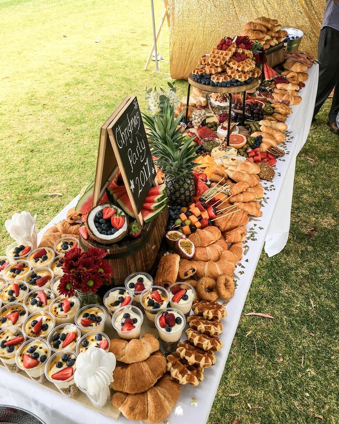 Sunday's Christmas Party Grazing Table Brunch Style