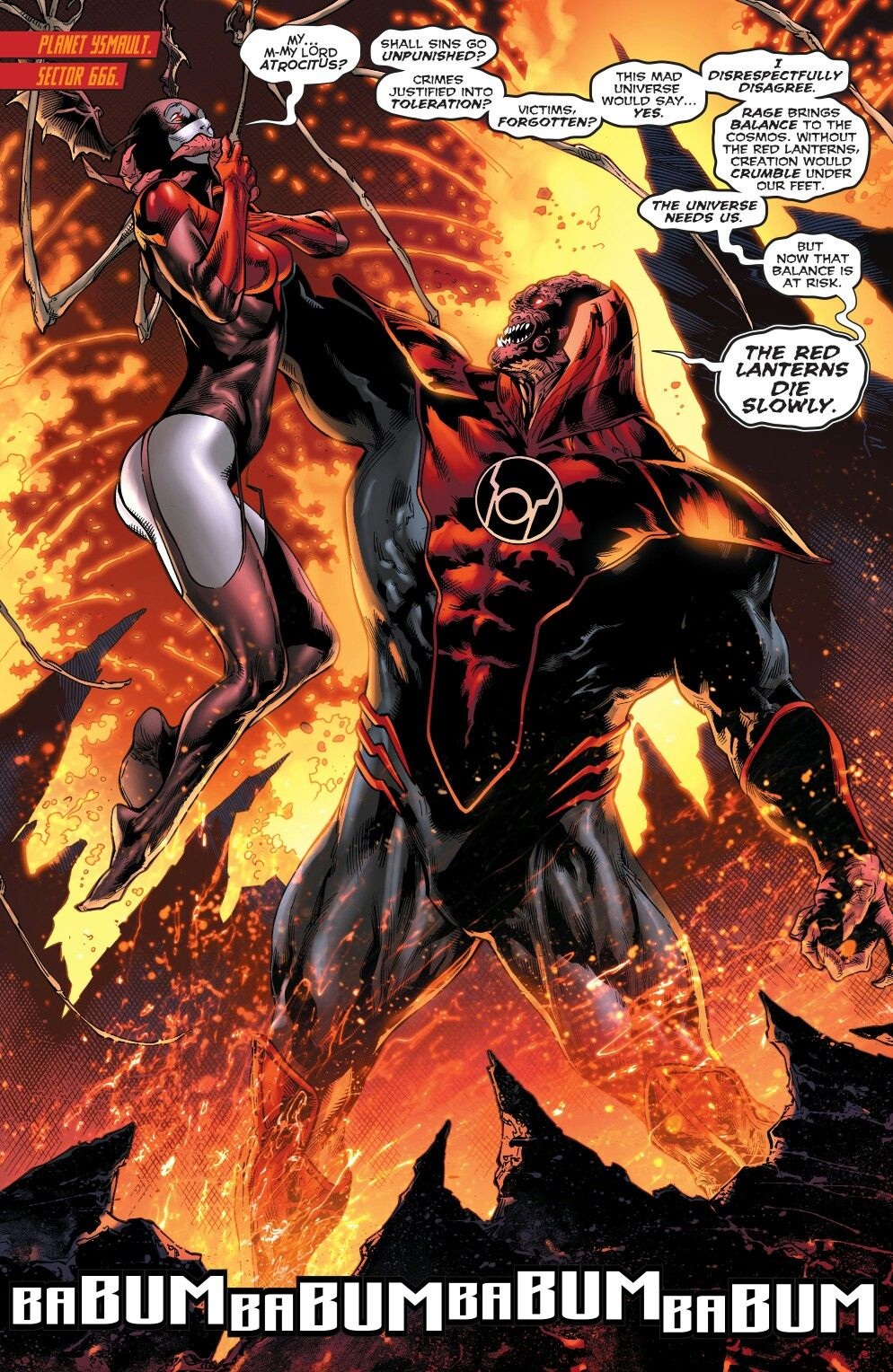 Red Lanterns Atrocitus and Bleez