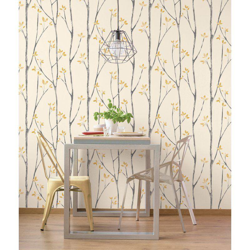 Rayford Scandi Tree 33 L X 20 5 W Wallpaper Roll Scandinavian Wallpaper Tree Wallpaper Wall Wallpaper