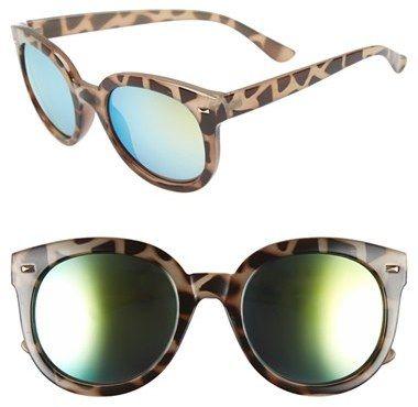 09f176480719d Junior Women s Bp. 52Mm Oversize Mirrored Sunglasses - Green grey Tort  http