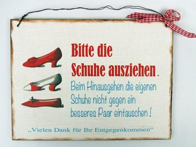 Bitte Schuhe Ausziehen schuhe türschild türschilder aufhängen und draht