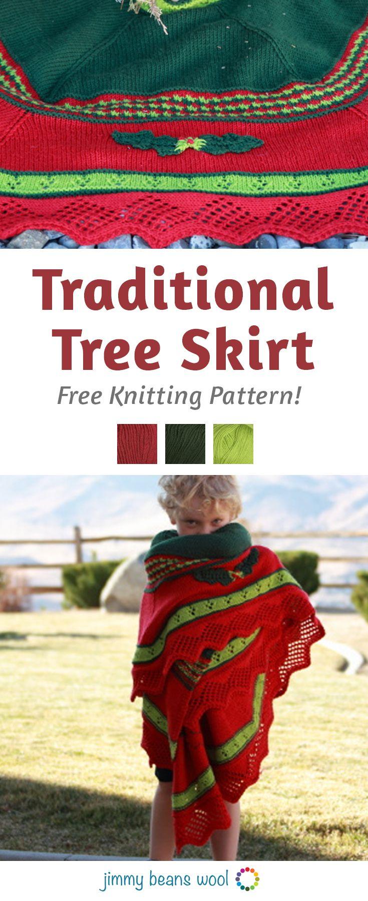 Traditional Tree Skirt Free Knitting Pattern | Knitting For ...