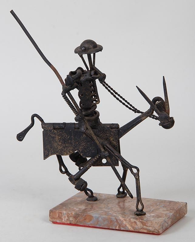 Folk art assemblage sculpture, Don Quixote. | Sculptures | Pinterest ...