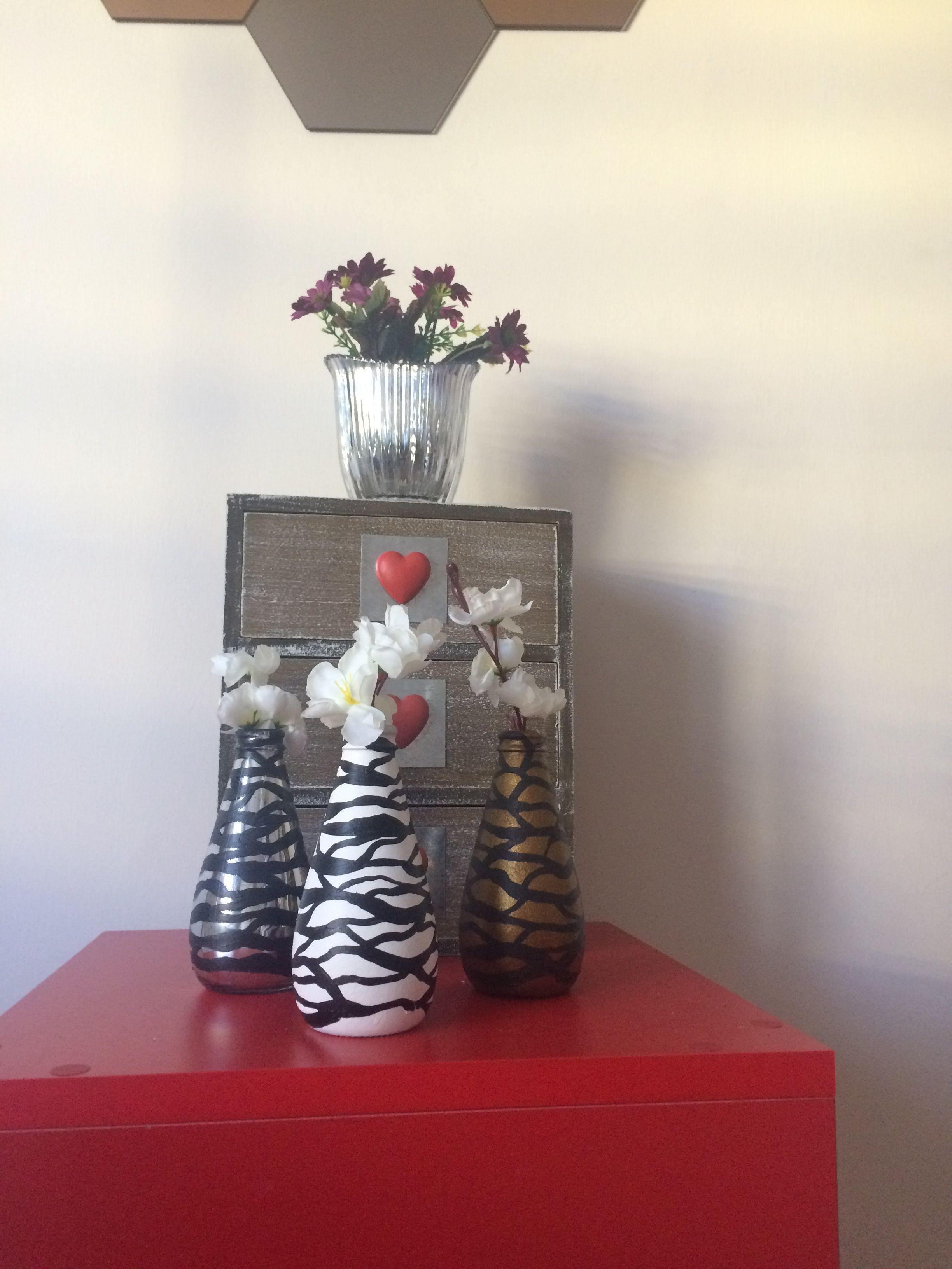 Vazo şişe Boyama Art Artcraft Avşar Soda şişesi Glass Painting My
