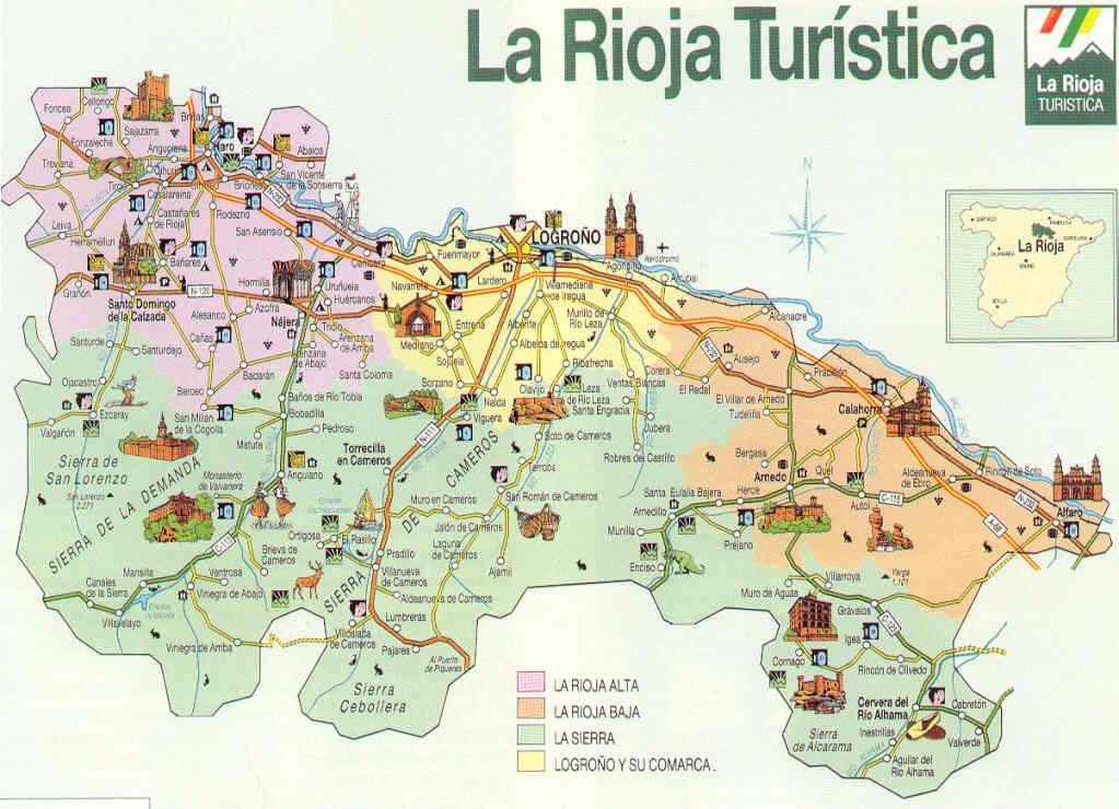 Mapa La rioja Vino Pinterest Spain
