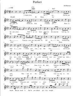 Partitura de Perfect de Ed sheeran y nuestra versión para piano