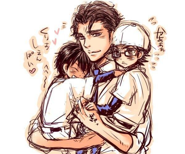 Ace Of Diamond Appreciation Tanba Koichiro: Sawamura , Chris And Miyuki