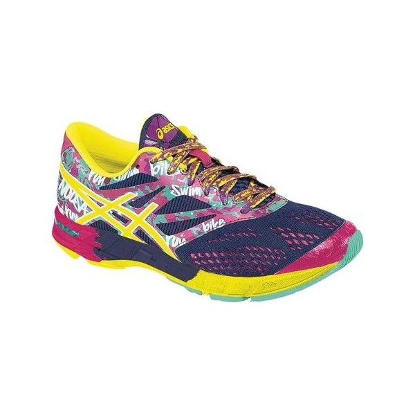206f5d88309a Women s ASICS GEL-Noosa Tri™ 10 - Navy Flash Yellow Hot Pink Athletic  ( 100) ❤ liked on Polyvore