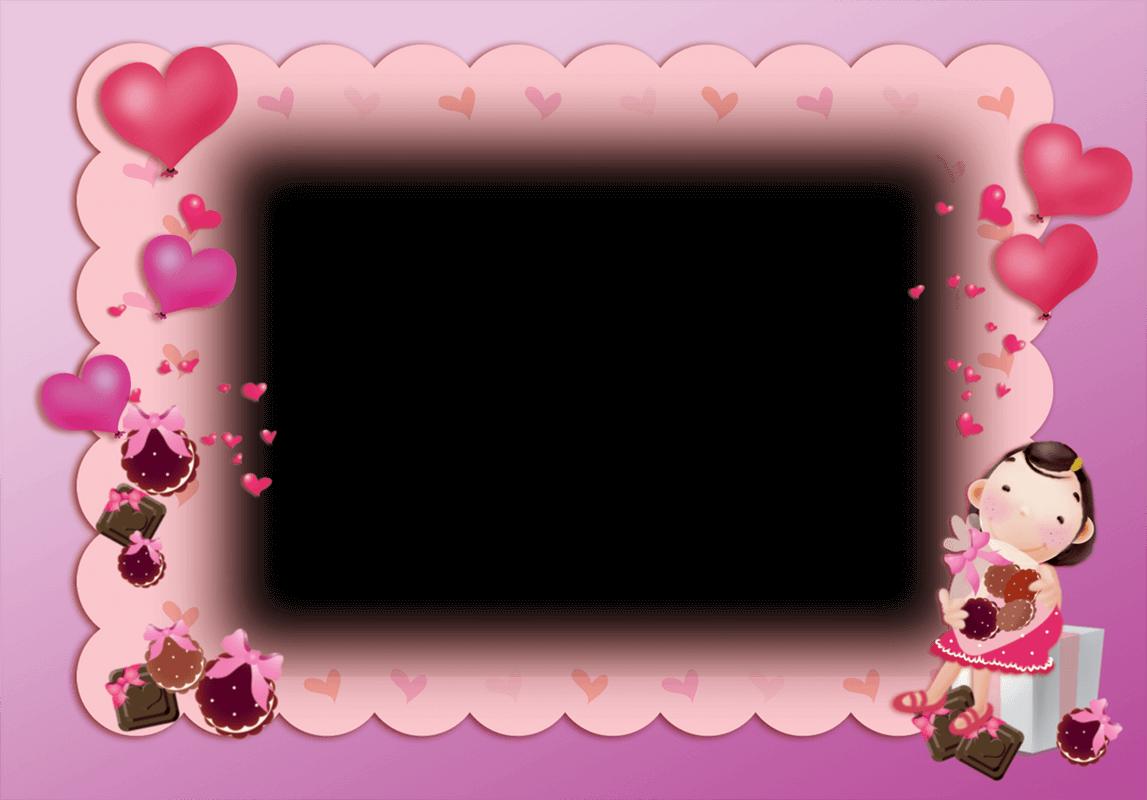 Marco Bonito De Color Rosa Para San Valentin Molduras Para Fotos Infantil Molduras Para Fotografias Molduras Para Criancas