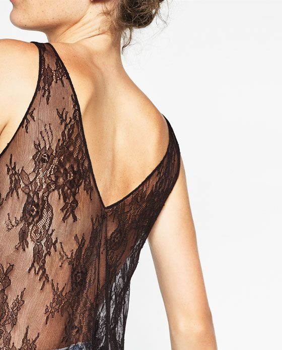 Obrázok 7 z KOMBINOVANÝ TOP S ČIPKOU od spoločnosti Zara