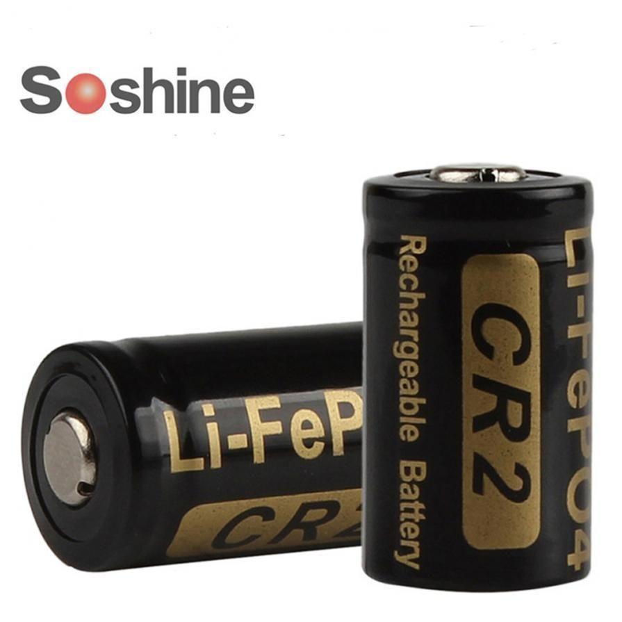 329 Gbp 2pcs Soshine 3v 400mah Rechargeable Battery Cr2 Lifepo4 Sanyo Eneloop Aaa Batteries