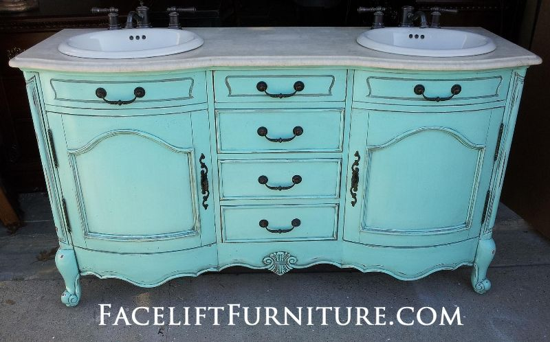 Diy Inspiration Painted Glazed Distressed Furniture Turquoise Furniture And Vanities