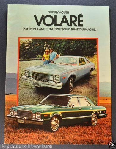 1979 79 Plymouth Volare  original sales brochure
