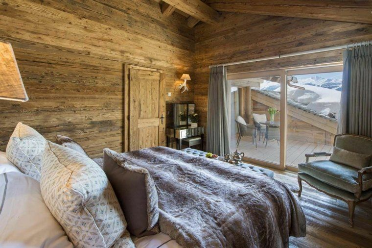 d co chalet montagne une centaine d 39 id es pour la chambre coucher chalet de montagne deco. Black Bedroom Furniture Sets. Home Design Ideas