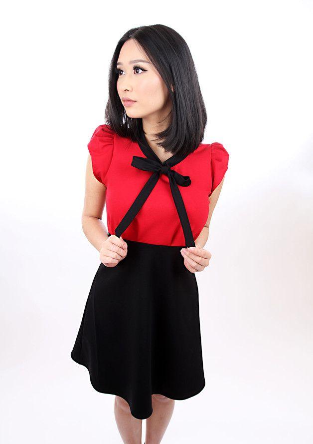 Kleid hochzeit rot