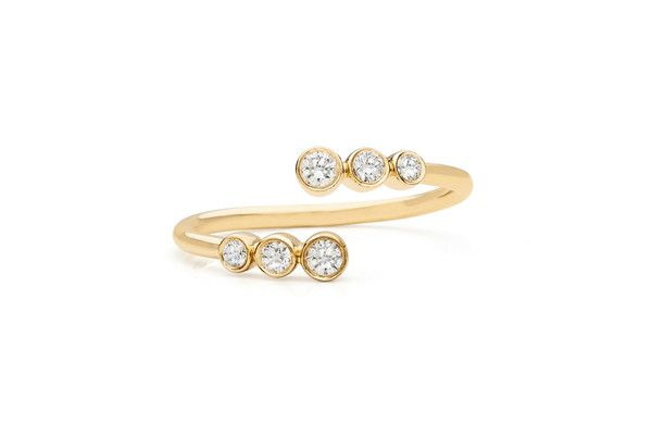 EF Collection - Multi Bezel Diamond Twist Ring