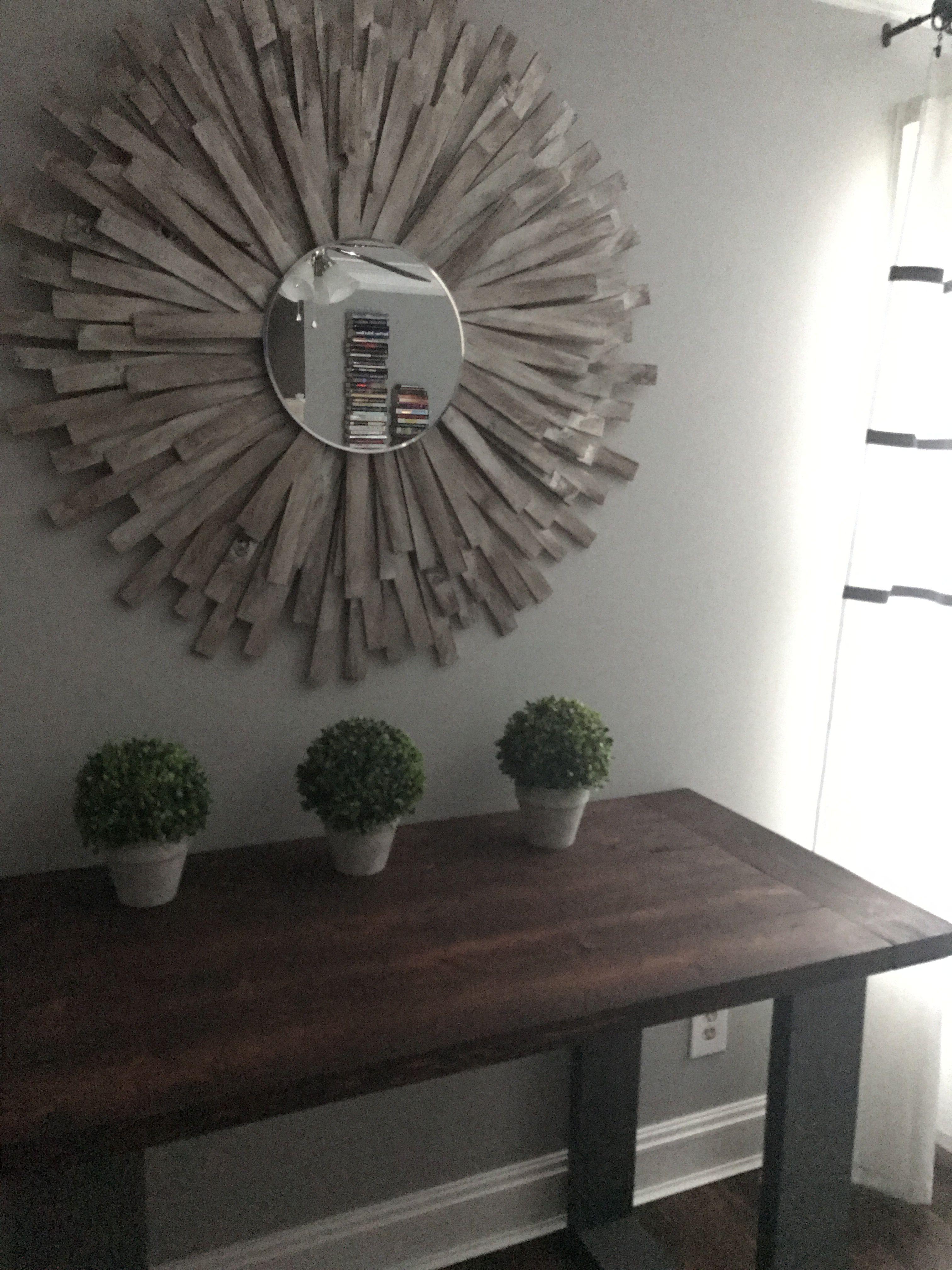 Sunburst Mirror Diy Cheap And Creative Wall Art With Wood Shims