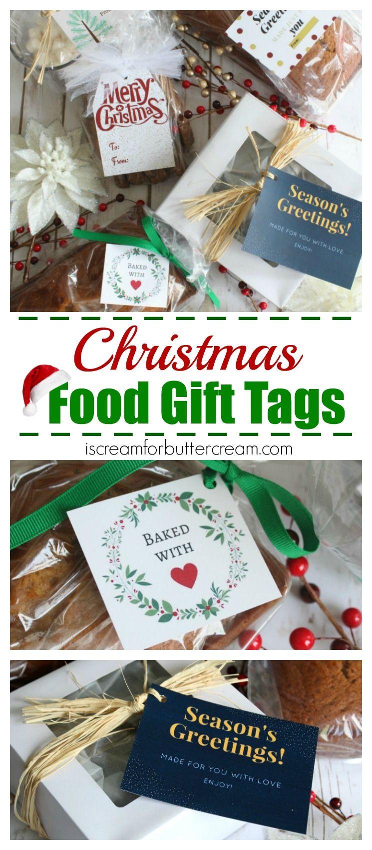 Free Printable Christmas Food Gift Tags   Christmas Cakes and ...