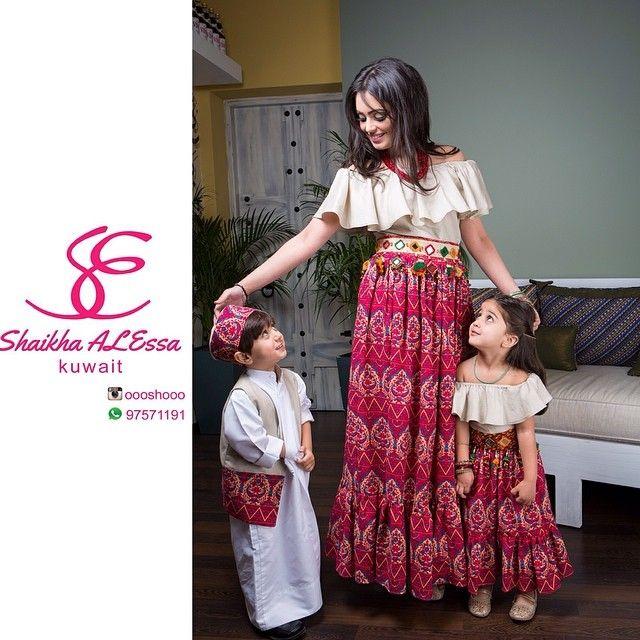 دراعه للام و البنت و لبس و لادي للقرقيعان للطلب واتس اب 97571191 السعر للام ٦٥ دراعه و حزام السعر للبنت ٣٥ Dresses Kids Girl Mom Daughter Outfits Kids Dress