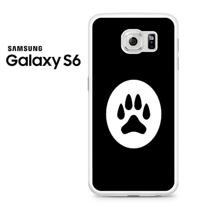 Black White Dog Paw Samsung Galaxy S6 Case