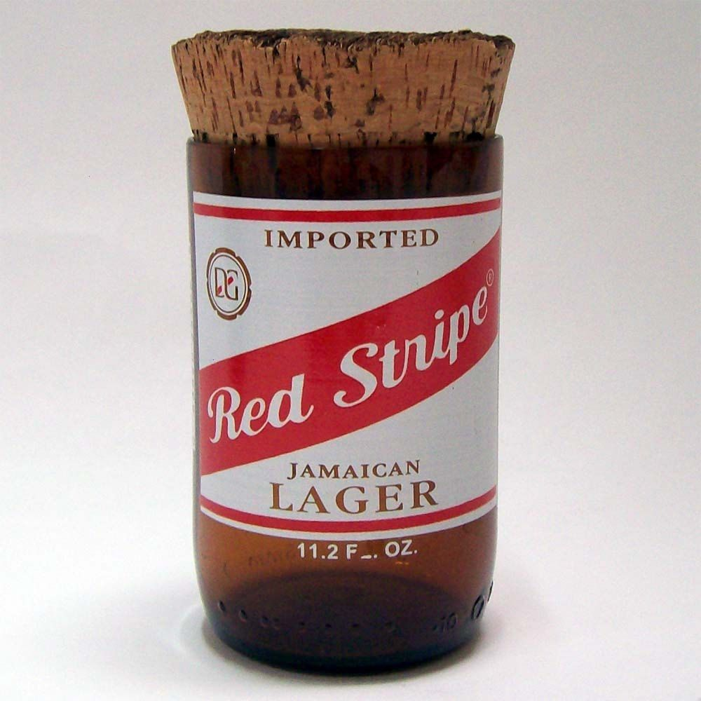 8 Oz Spice Jar Made From An Upcycled Red Stripe Beer Bottle Spice Jars Glass Spice Jars Red Stripe