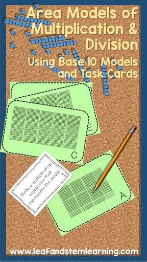 area model multiplication and division task cards to find out the games and math. Black Bedroom Furniture Sets. Home Design Ideas