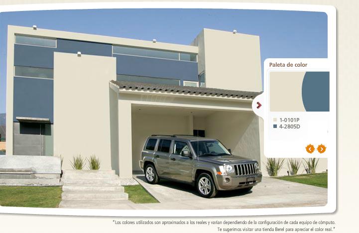 Pintura para la fachada paleta de colores e ideas para - Pintura fachada exterior ...