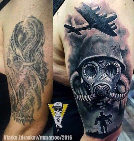 War Tattoo Shoulder Cover Up | Tattoo shoulder, War tattoo and Shoulder