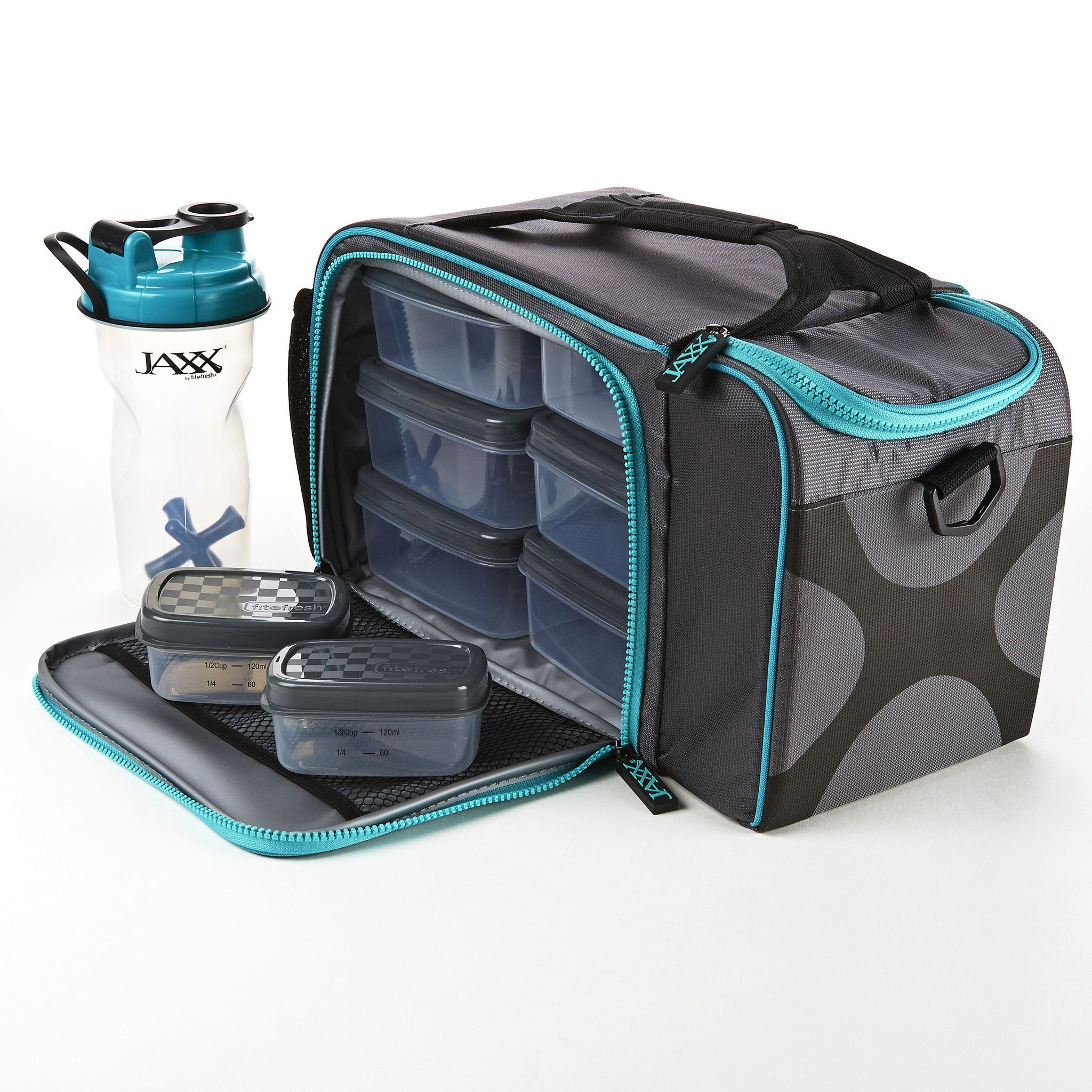 Ja Fitpak Xl With Portion Control Container Set Meal Prep Bag Lunch Box