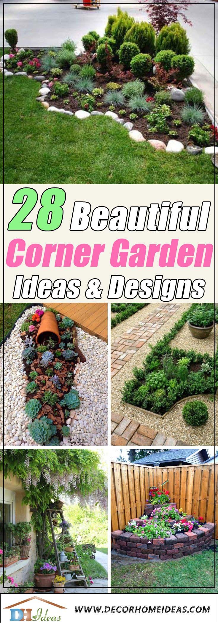 28 Beautiful Corner Garden Ideas and Designs in 2020 ...