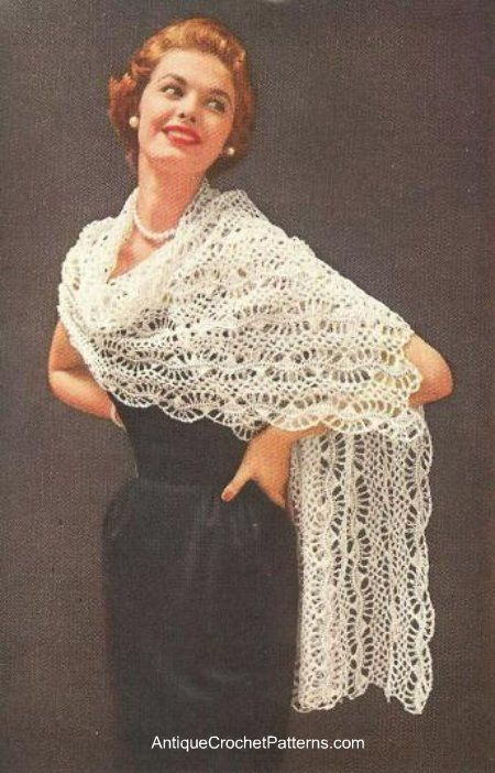 Oh I say: A rather fetching Crochet Shawl Pattern. Vintage but oh so ...