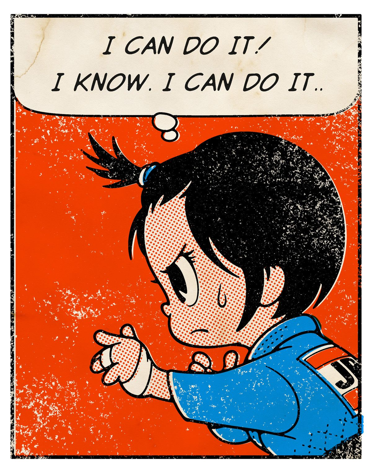 "Old Comic Page ""I CAN DO IT!"" on Behance"