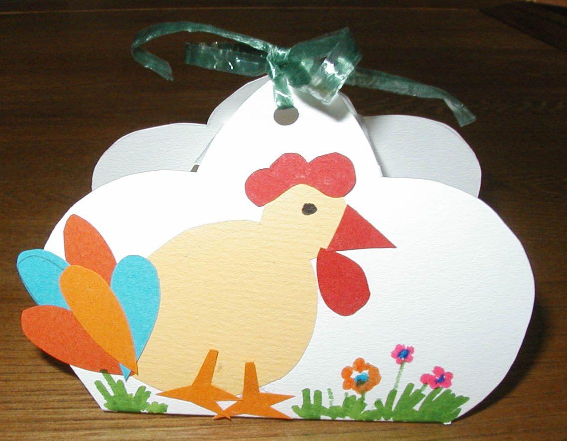 Petit panier oeufs de p ques d cor d 39 une poule jaune easter - Tete a modeler paques ...