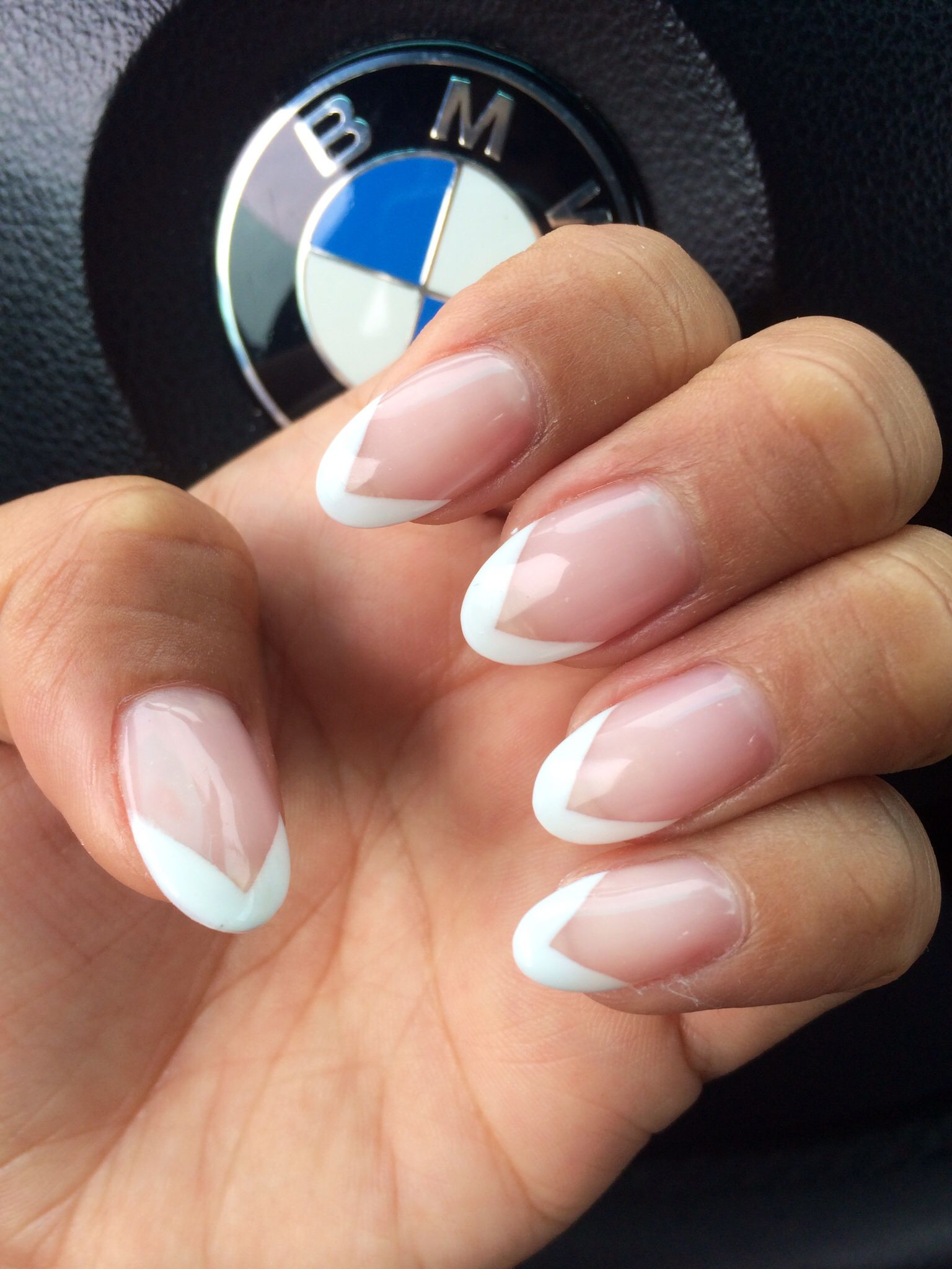 Chrisspy On Instagram Fresh Almond Acrylic Nails French Nails French Tip Nails