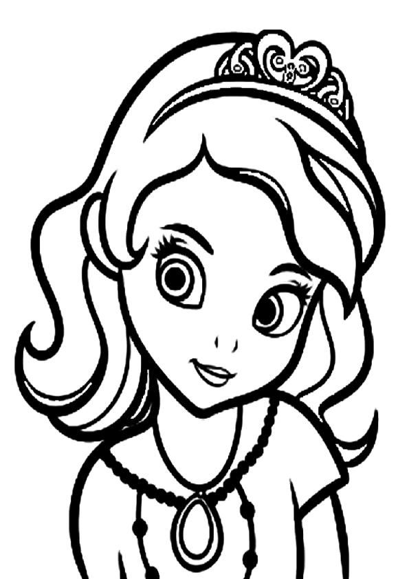 Colorear Cara De Princesa Sofia  moldes  Pinterest ...