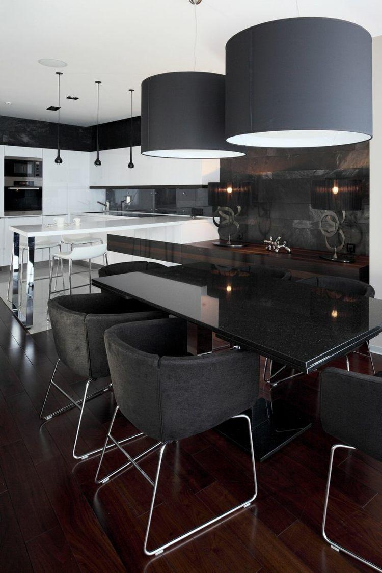 Salle A Manger Moderne Et Sombre 50 Idees Elegantes A Emprunter